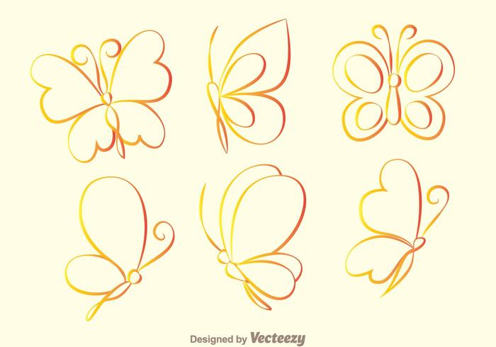 Butterfly Outline Icons