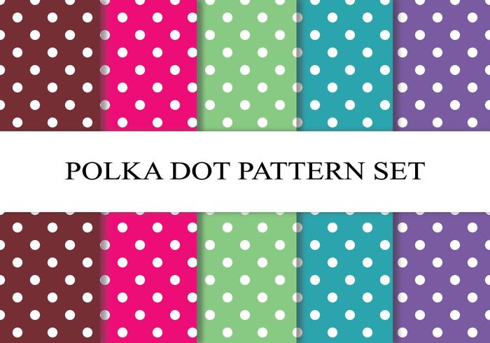 Bunte Polka Dot Pattern Set