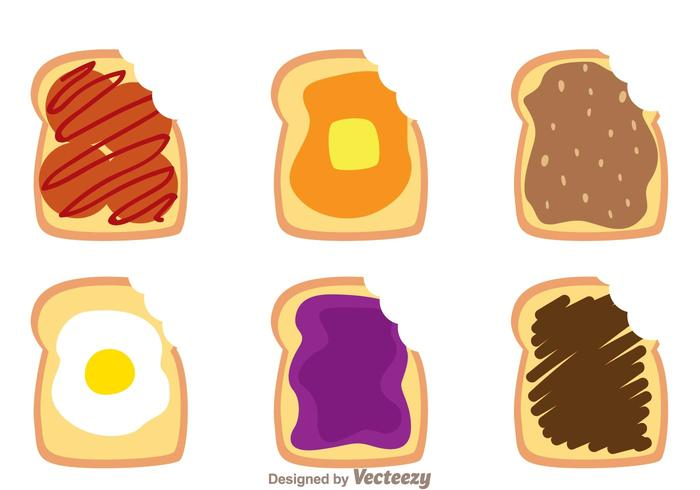 Toast Bread Bite Mark Vectors