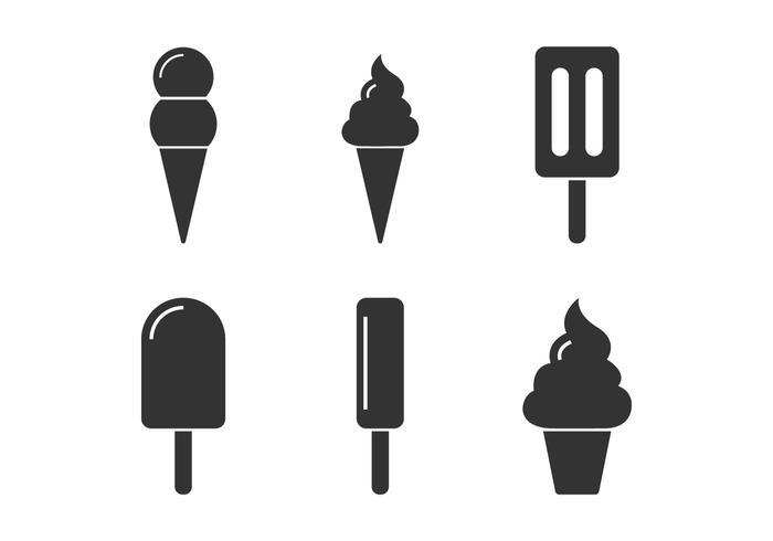 Iconos del cono de la nieve vector
