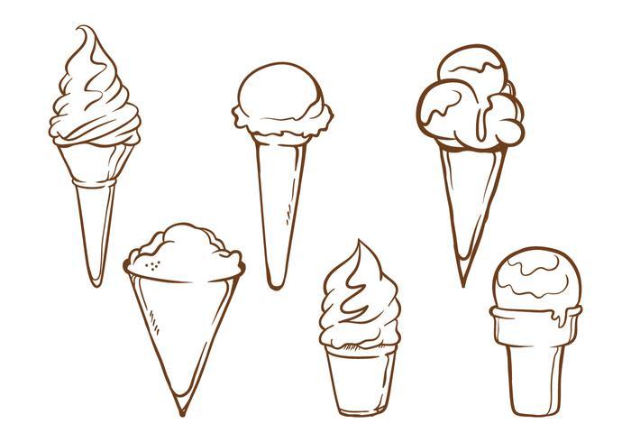 Ilustrações de cone de neve