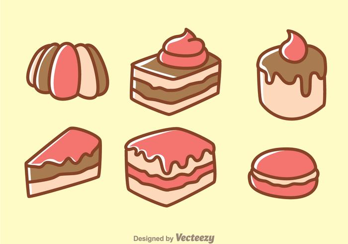 Cake Cartoon Icons