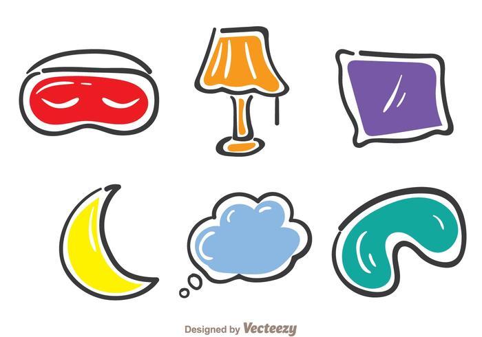 Sova färgstarka ikoner