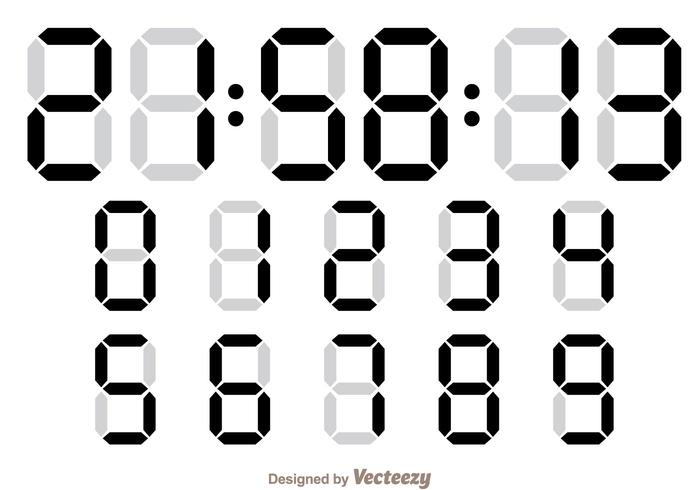 Digital font and number download free vector art, stock graphics.