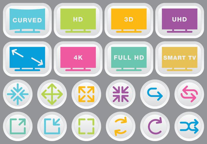 Video & Multimedia Colorful Icons