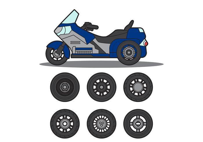 Gratis Motor Trike Vector