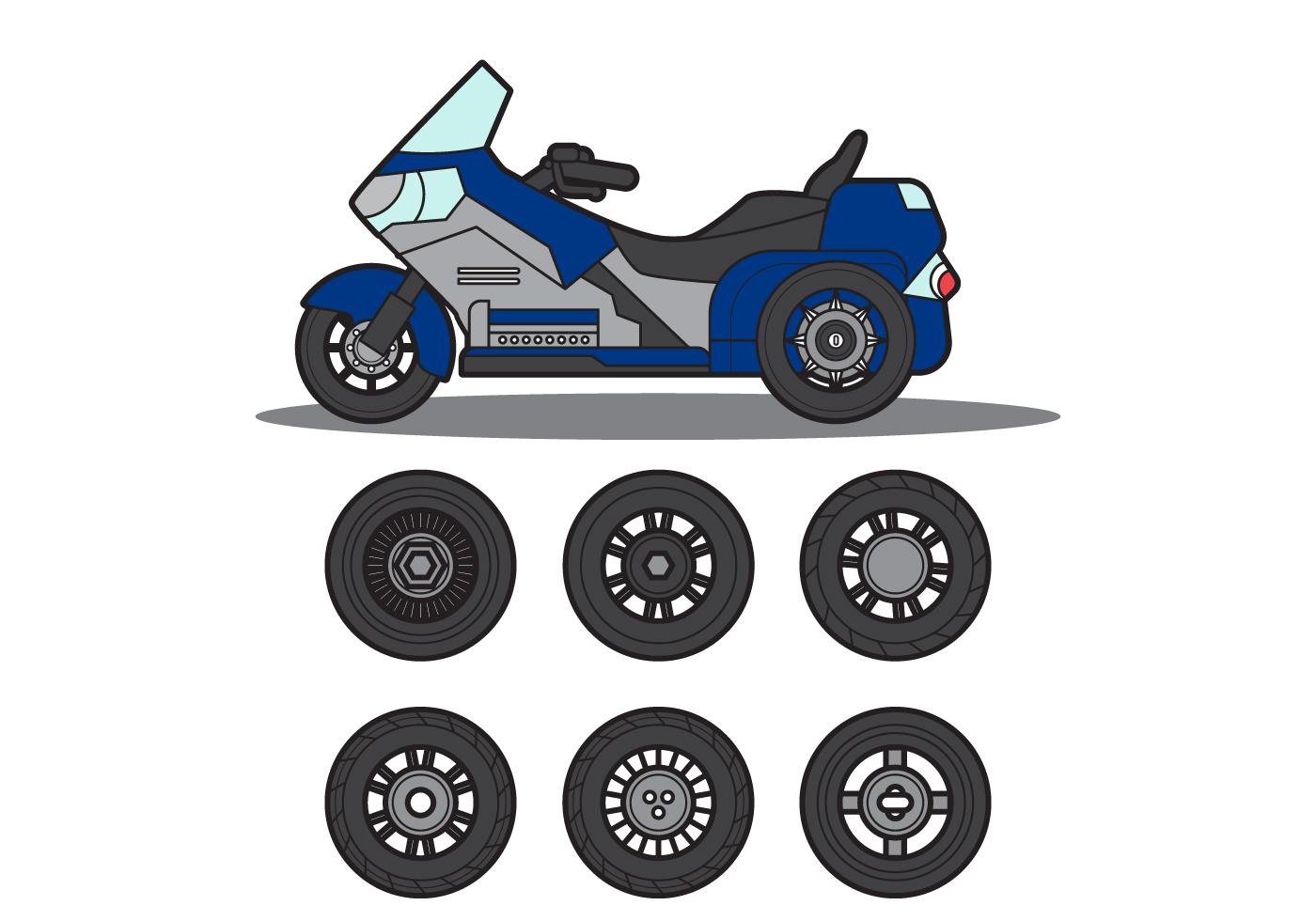 Free Motor Trike Vector Download Free Vector Art Stock