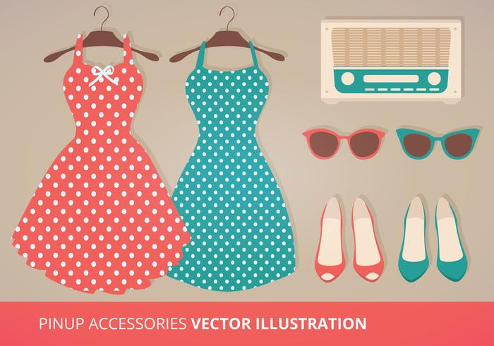 Pinup Vector Accessories