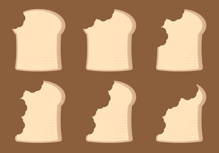 Bread Bite Timelapse Vector