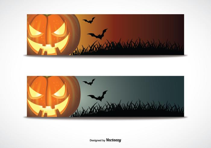 Halloween Banner Set - Download Free Vector Art, Stock Graphics ...