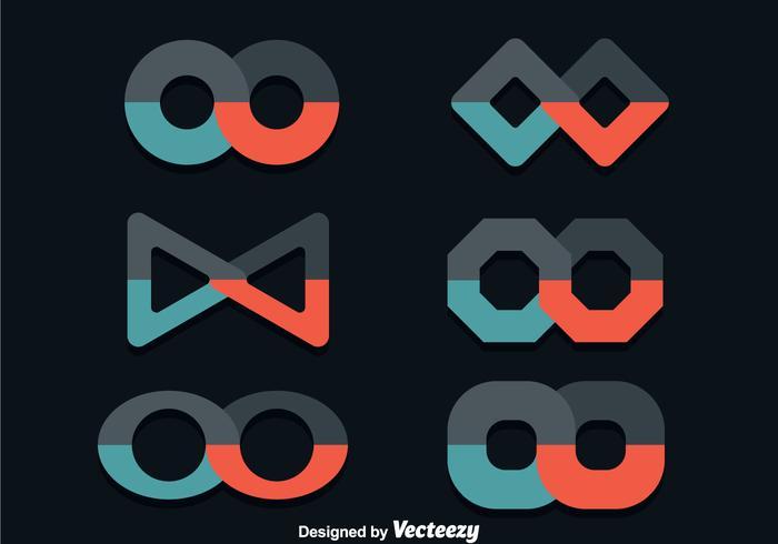 Oneindige platte pictogrammen