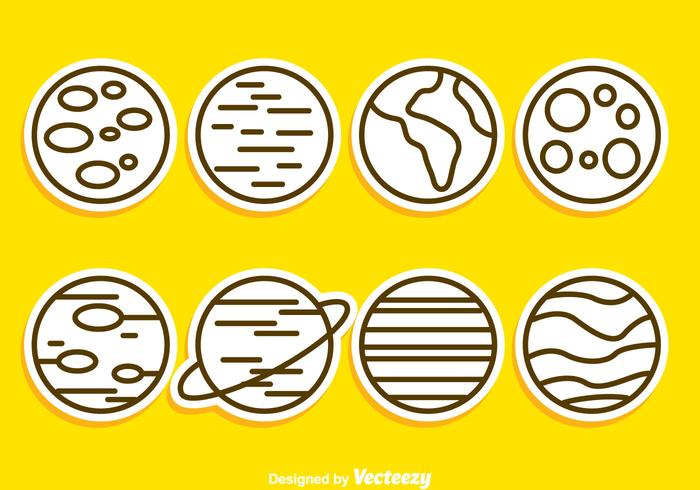 Planet Outline Icons