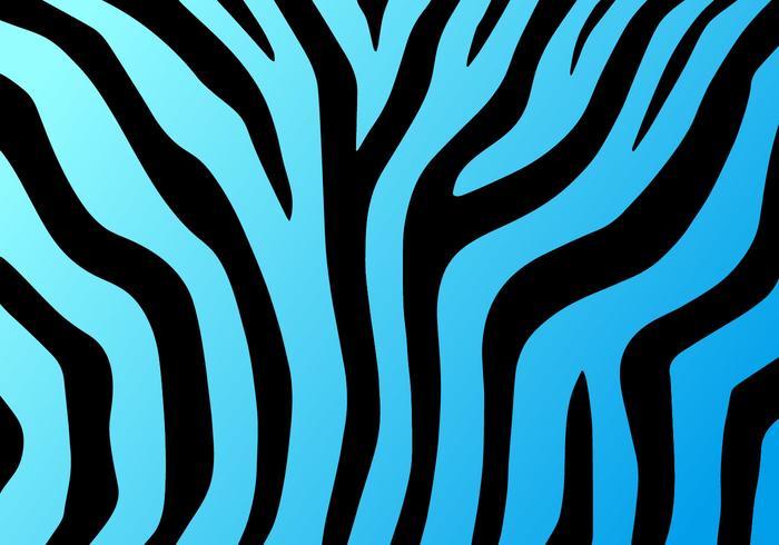 Neon Blue Zebra Print Vector Background - Download Free