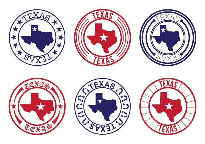 Texas karta emblem vektorer