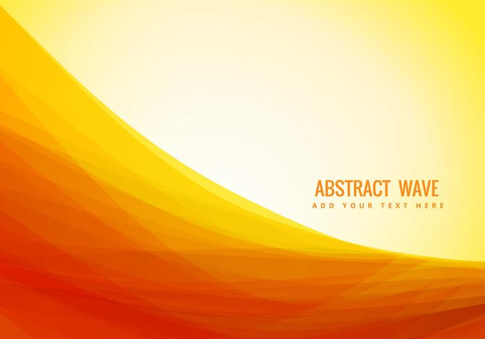 yellow color abstract wave