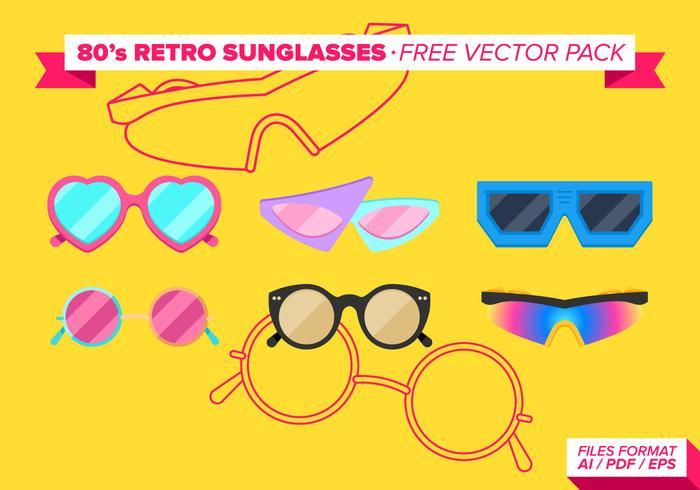Eighties 80s Retros Sunglasses Free Vector Pack