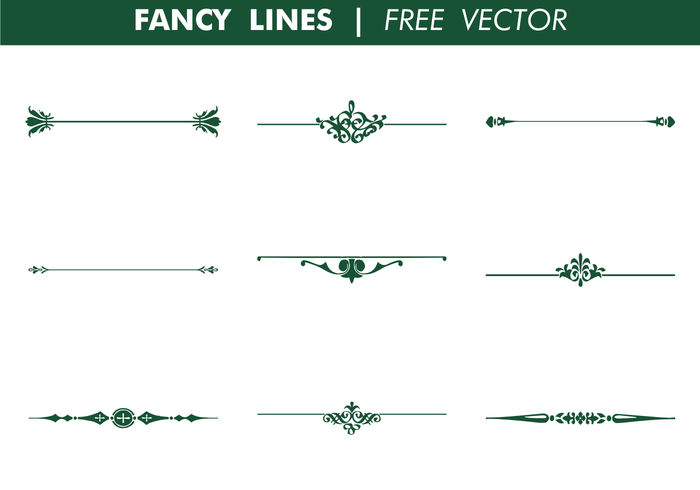 Vector Drawing Lines Java : Decorative fancy lines vector download free art