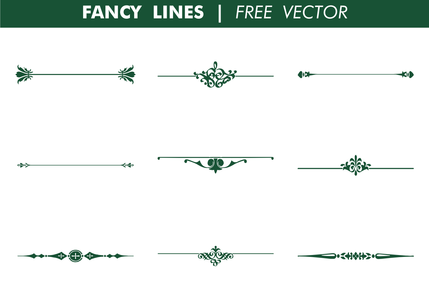 Vector Drawing Lines Review : Decorative fancy lines free vector download