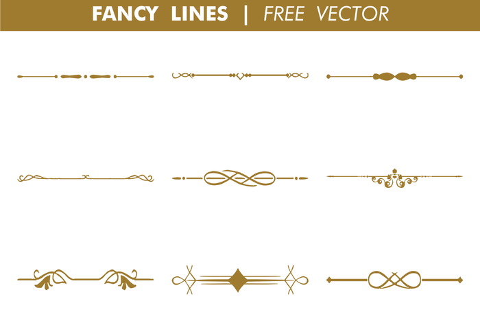 Vector Drawing Lines Definition : Decorative fancy lines vector download free art