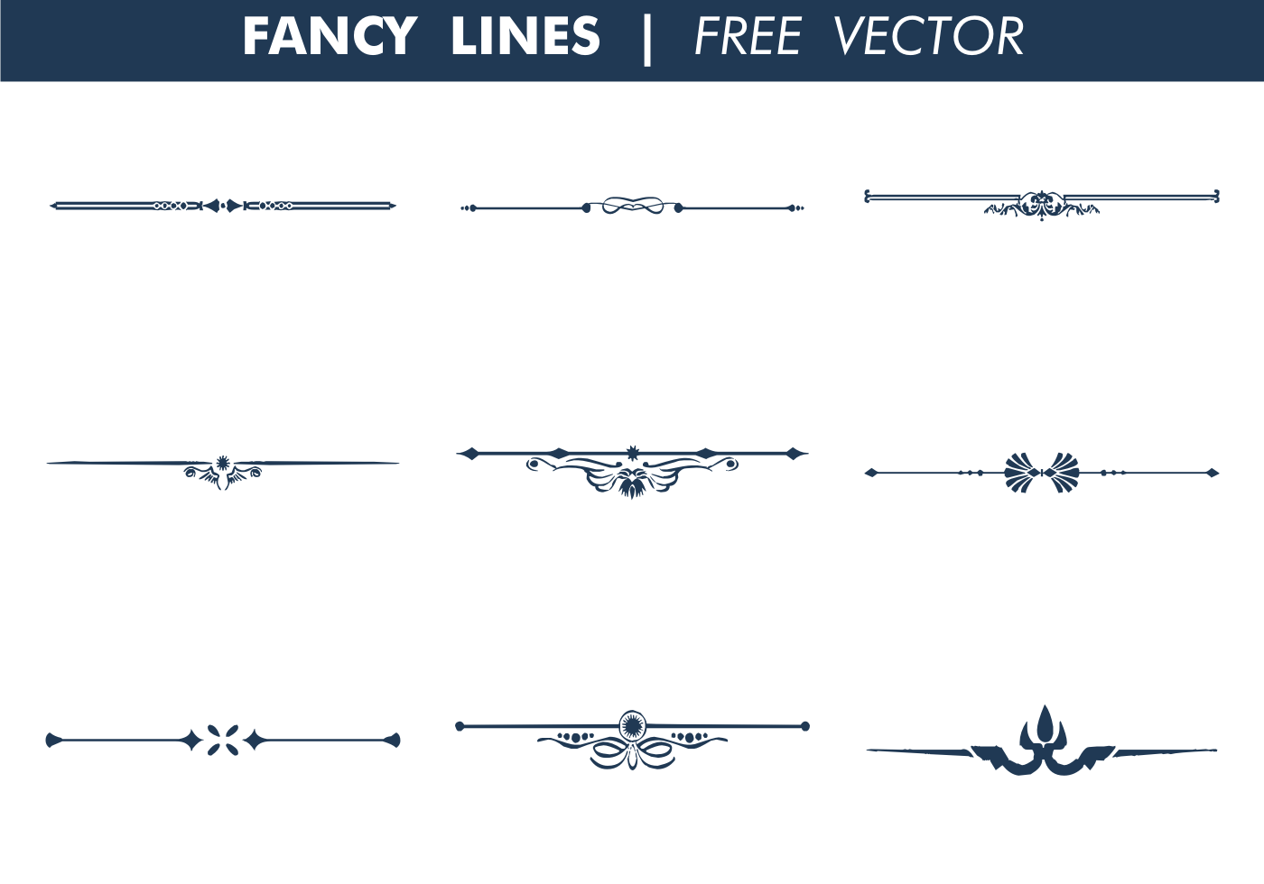 Vector Drawing Lines Java : Decorative fancy lines free vector download