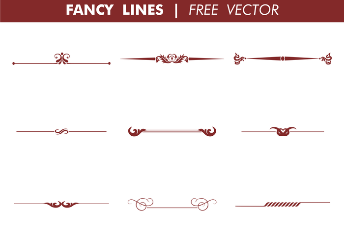 Decorative Fancy Lines Vector