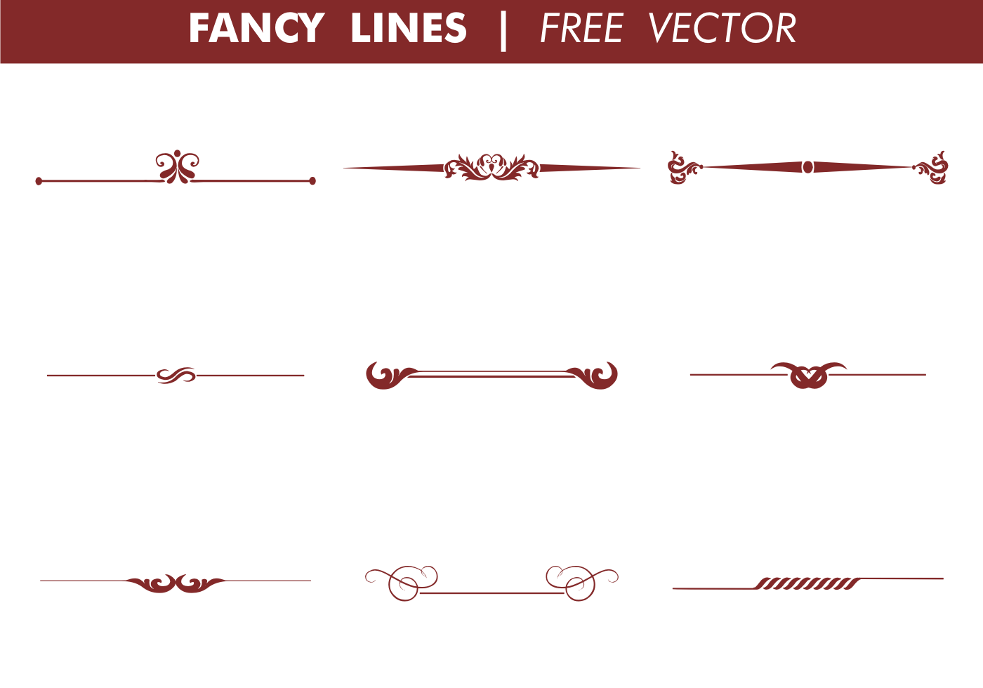 Line Art Software Free Download : Decorative fancy lines vector download free art