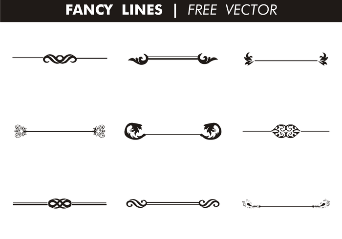 Vector Drawing Lines Disappear : Decorative fancy lines free vector download