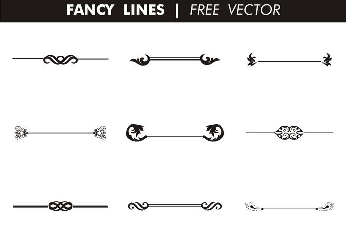 Vector Drawing Lines Excel : Decorative fancy lines free vector download