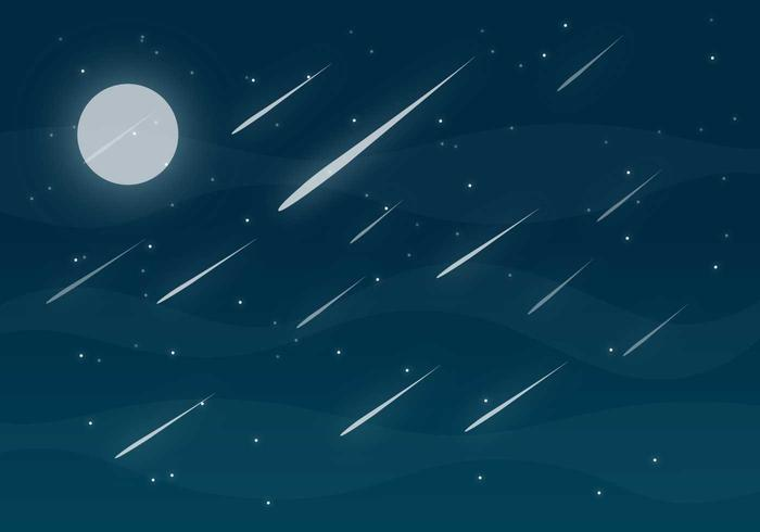 Meteor Shower Free Vector