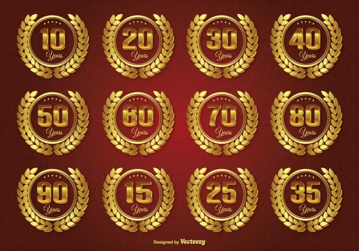 Golden Anniversary Label Set