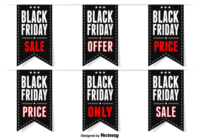 Black friday labels vector