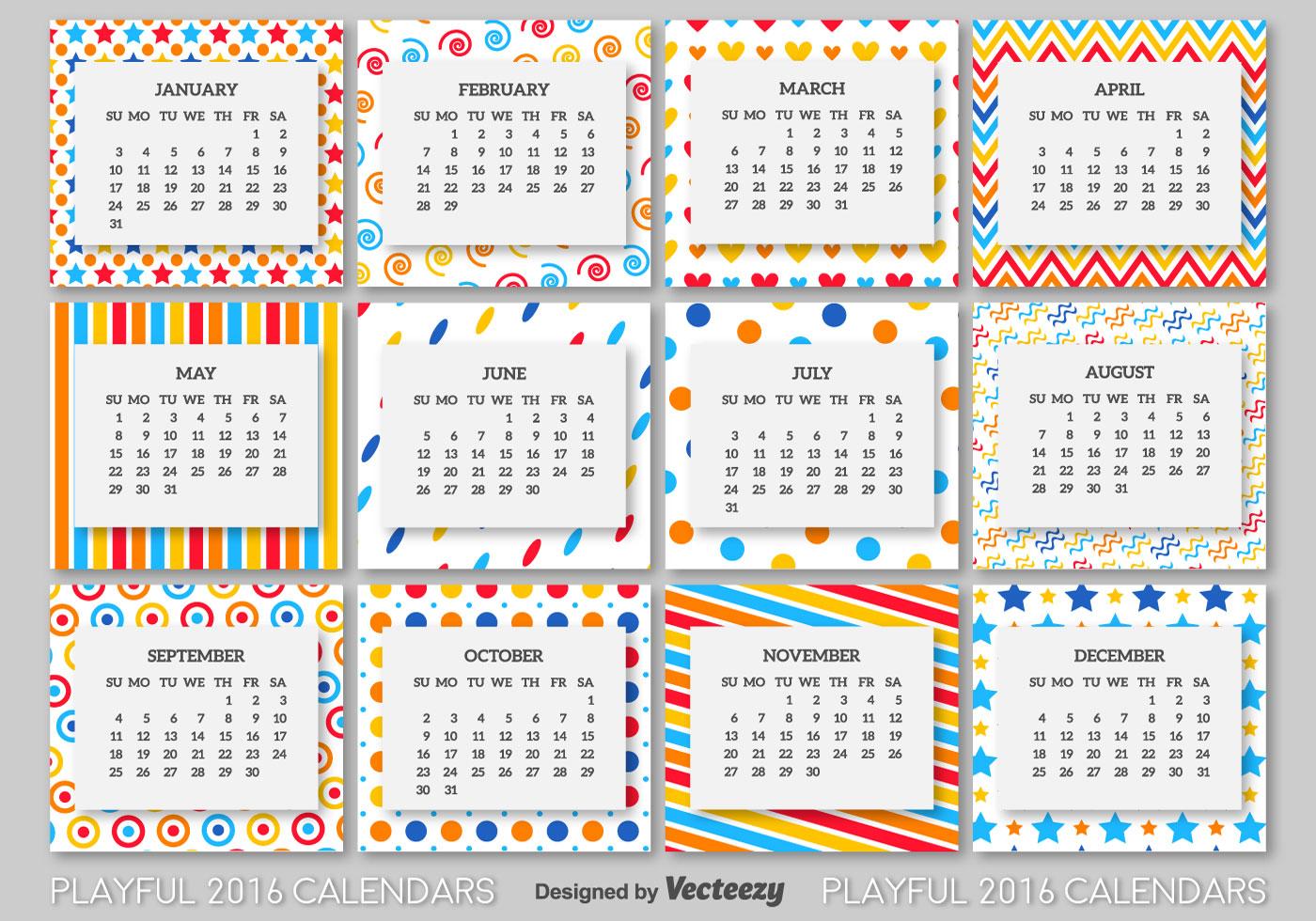 Calendar Template Vector : Calendar template download free vector art stock