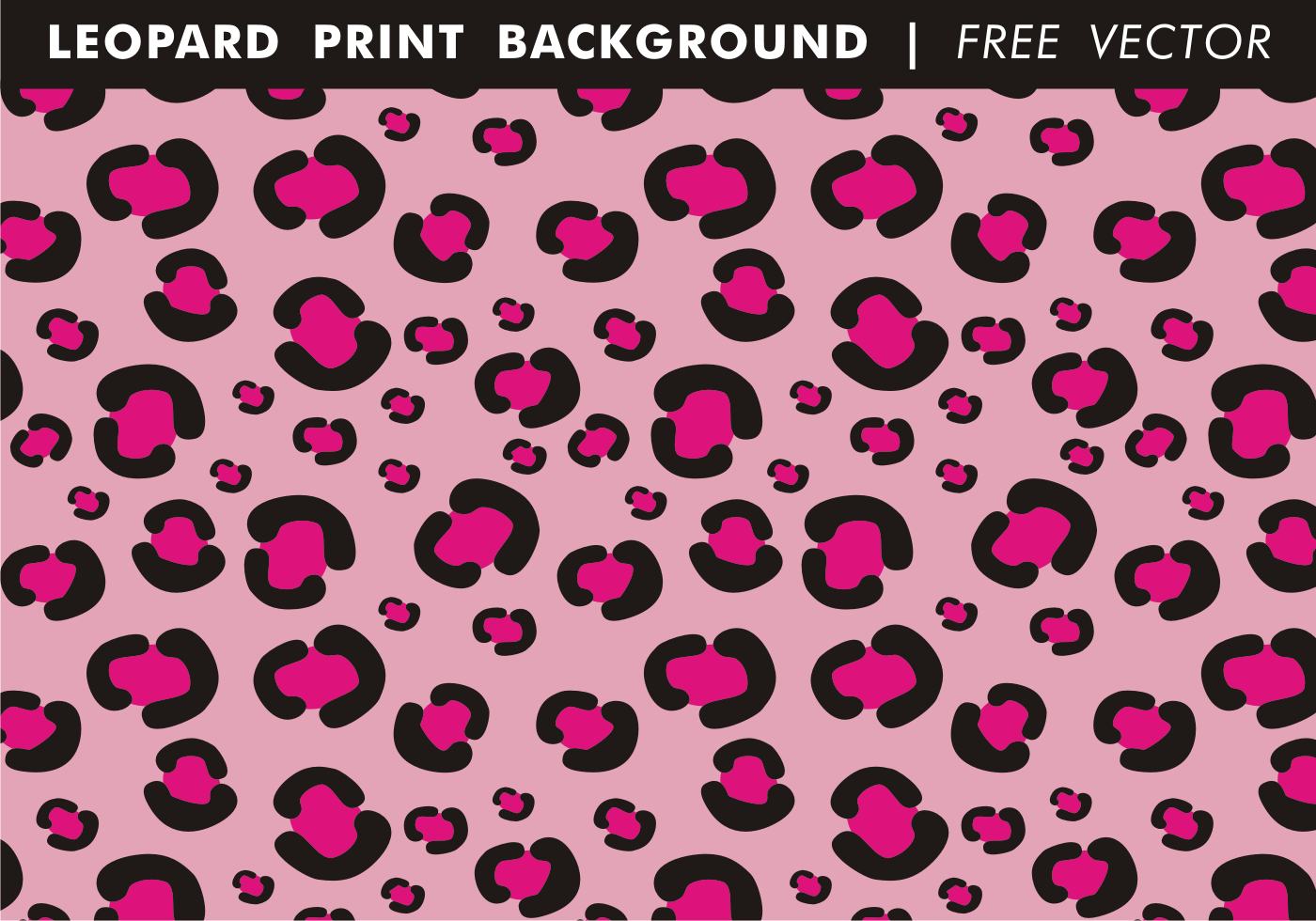 Girly Leopard Print Background Free Vector Download