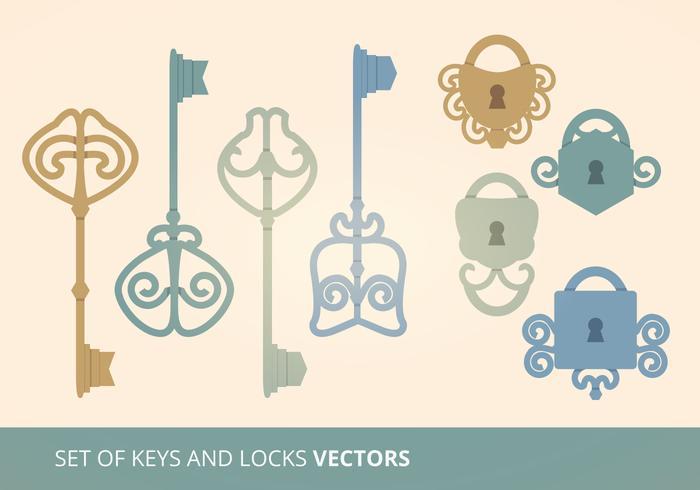 Keys and Locks Vector Illustration