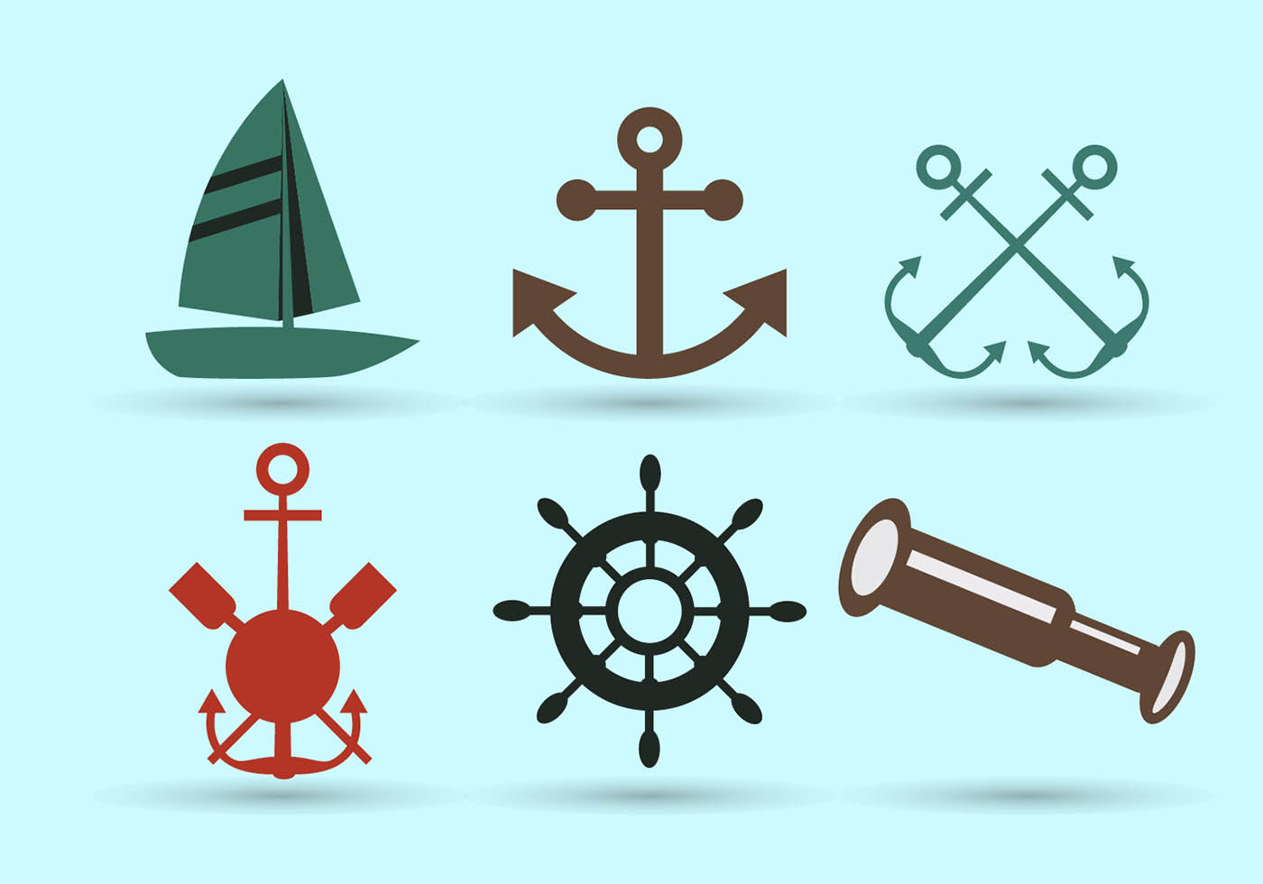 Nautical symbols download free vector art stock for House music symbol