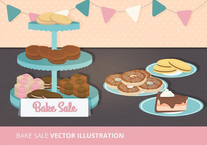 Bake Sale Vector Illustration