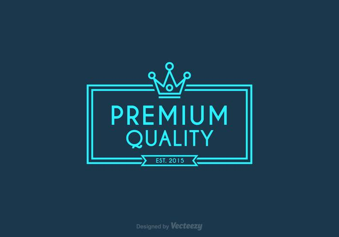 Free Vector Line Crown Logo