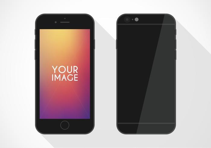 Kostenloses Flat iPhone 6 Vector Mockup