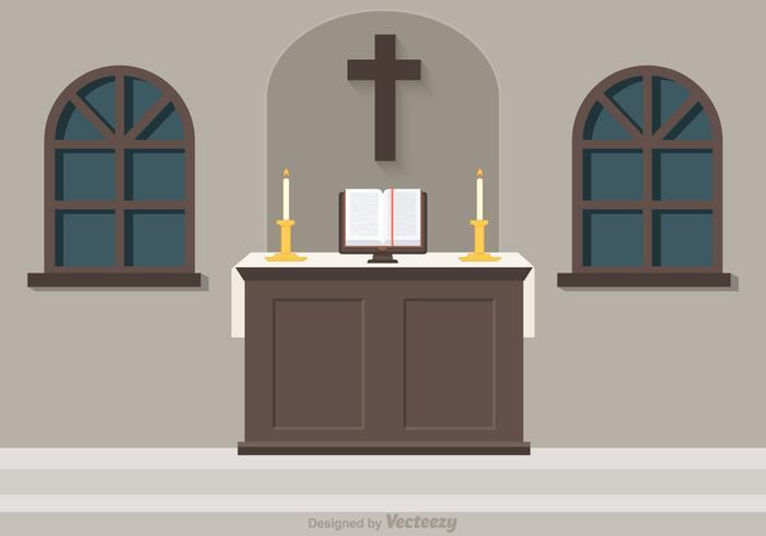 Gratis kyrka altare vektor illustration
