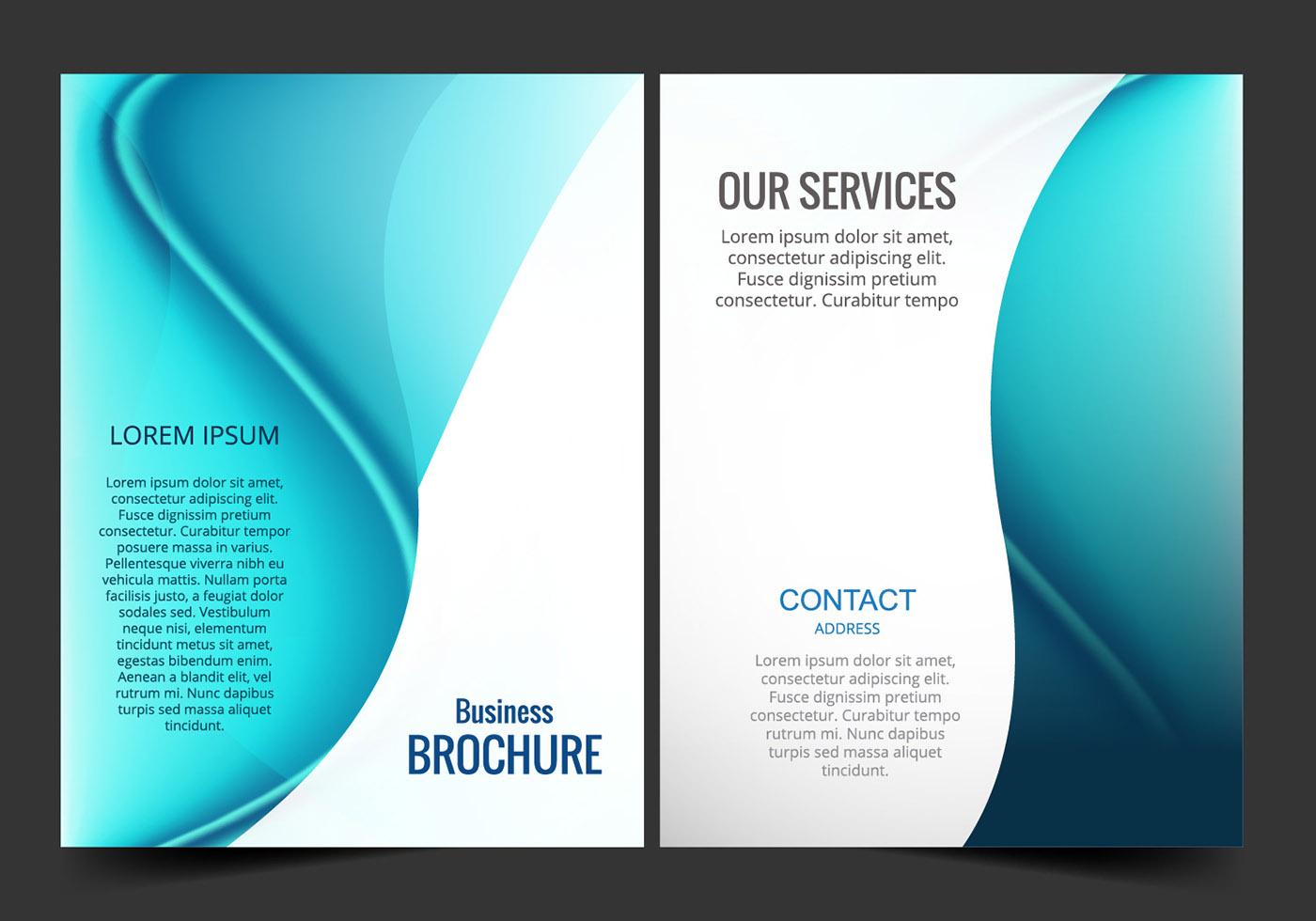 bifold brochure free vector art