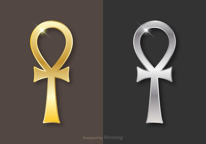 Free Golden And Silver Key Of Life Vector