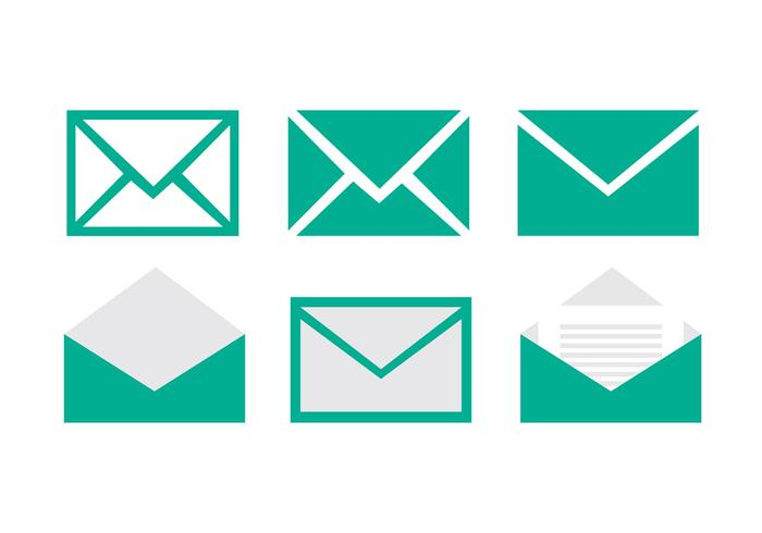 Set of email vector icons