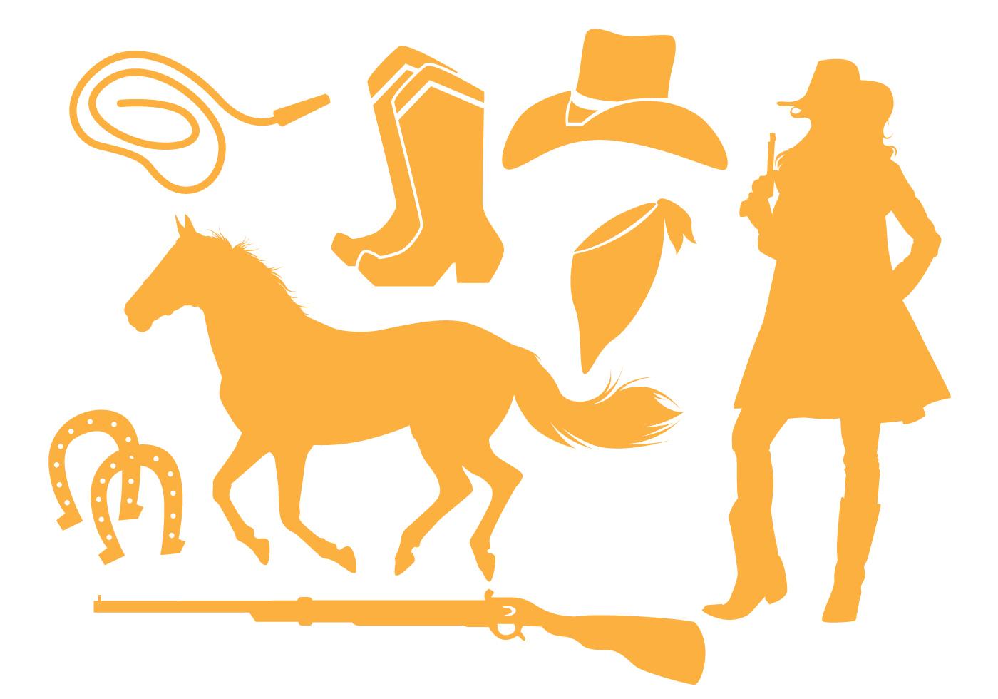 Cowgirl Silhouette Vectors Download Free Vectors