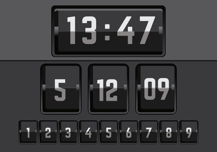 Number Counter Vector