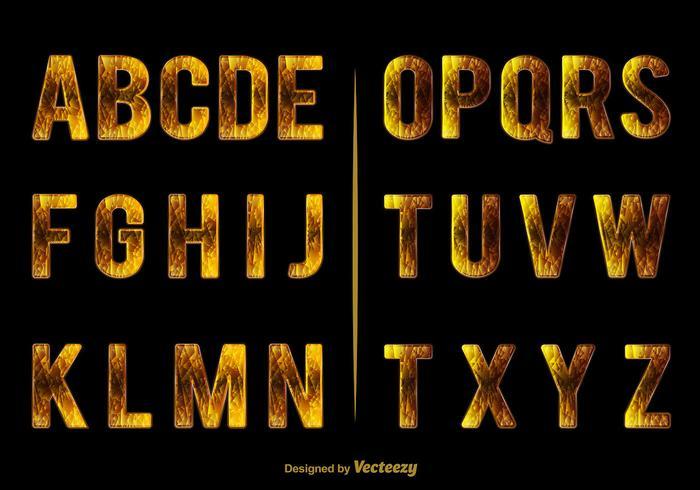 Elegant alphabet vector