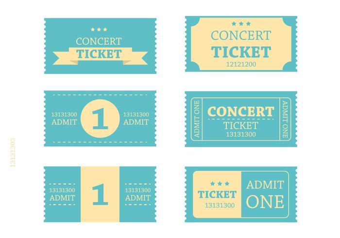 Retro Blue Ticket Vectors