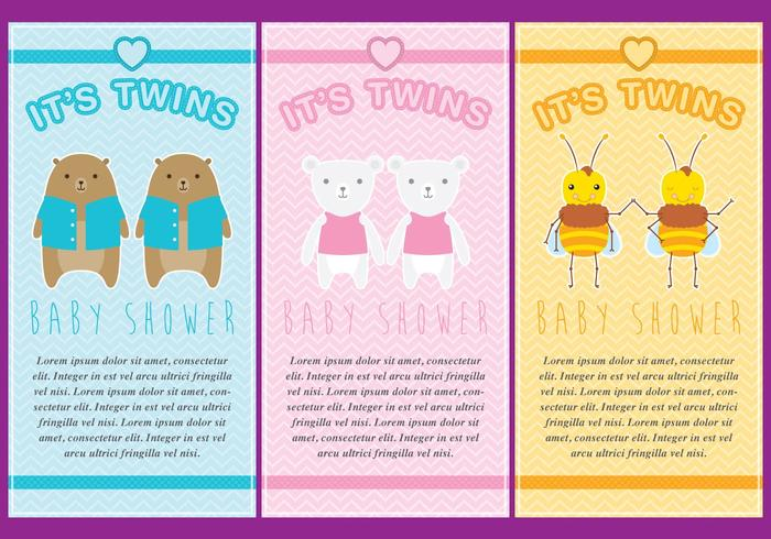 Twin Babies Invitations