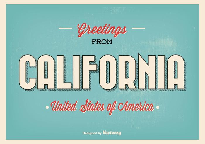 Salutations de l'illustration de la Californie vecteur