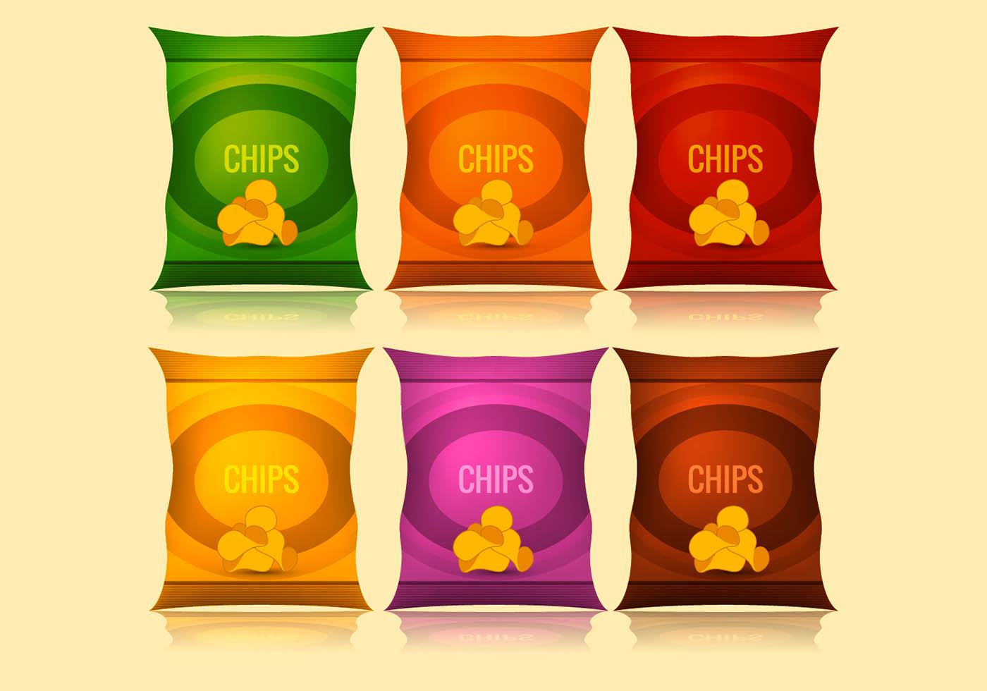 Vector bag of chips download free art stock