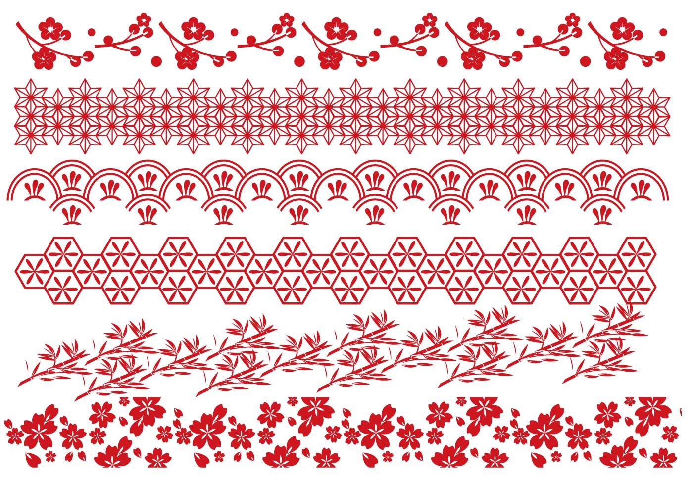 Red Japanese Border Vectors - Download Free Vector Art ...